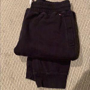 Tommy Hilfiger men medium black jogger sweats